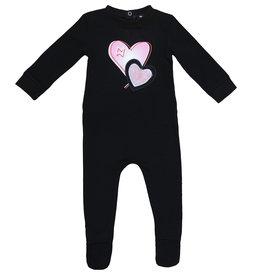 Noggi Noggi Patched Heart/Star Footie Pajama
