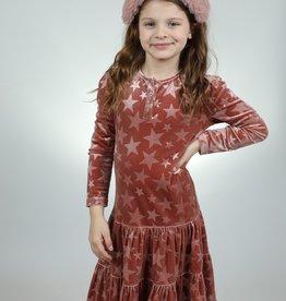 ZigZag ZigZag Henley Tiered Velour Stars Dress