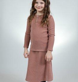 ZigZag ZigZag Velour Ribbed Circle Skirt
