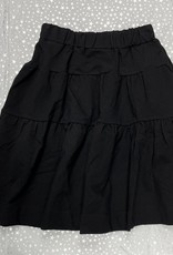 MeMe Basics MeMe Basics Black Tiered Skirt with Hidden Pockets