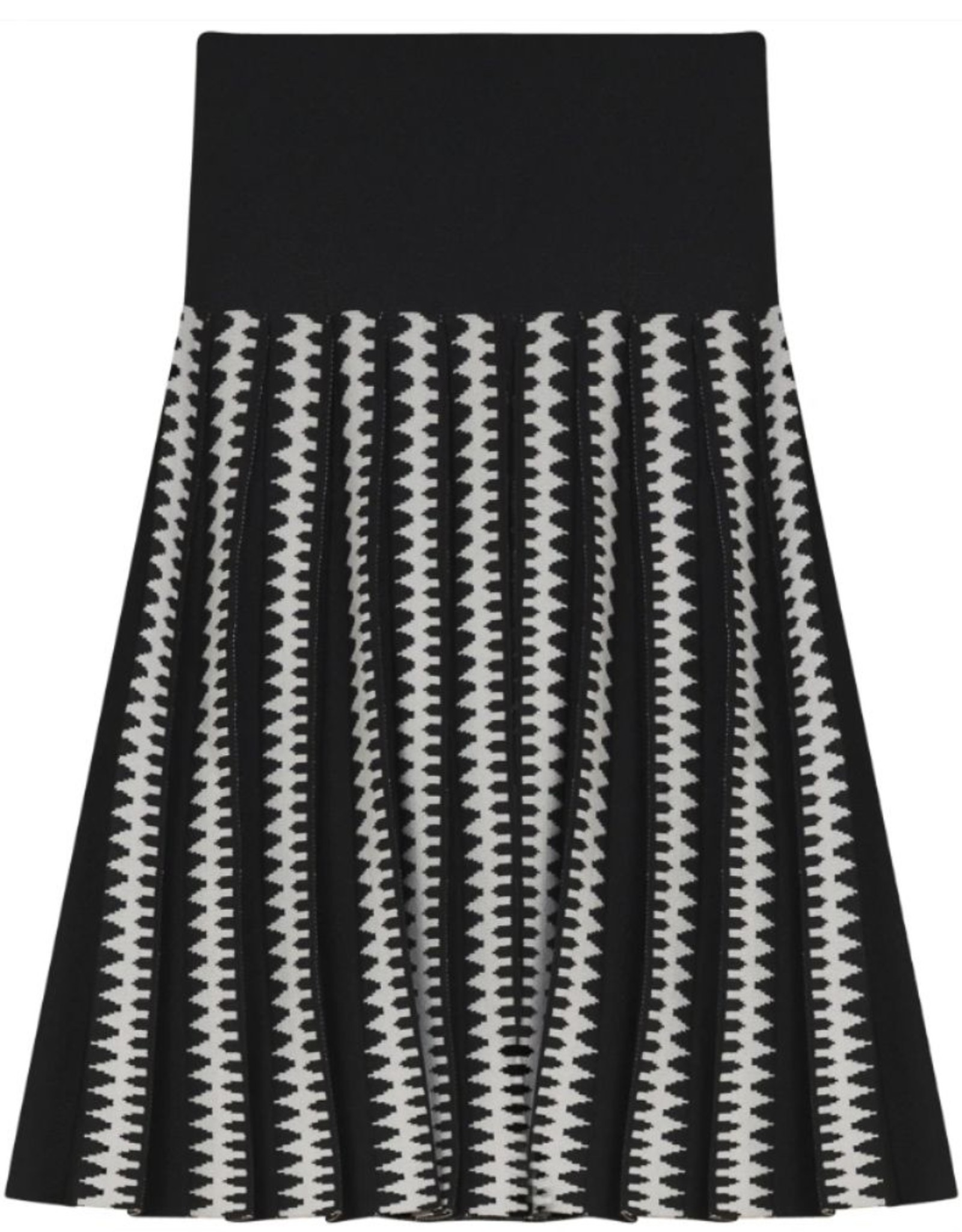 Noni Noni Patterned Pleated Knit Skirt