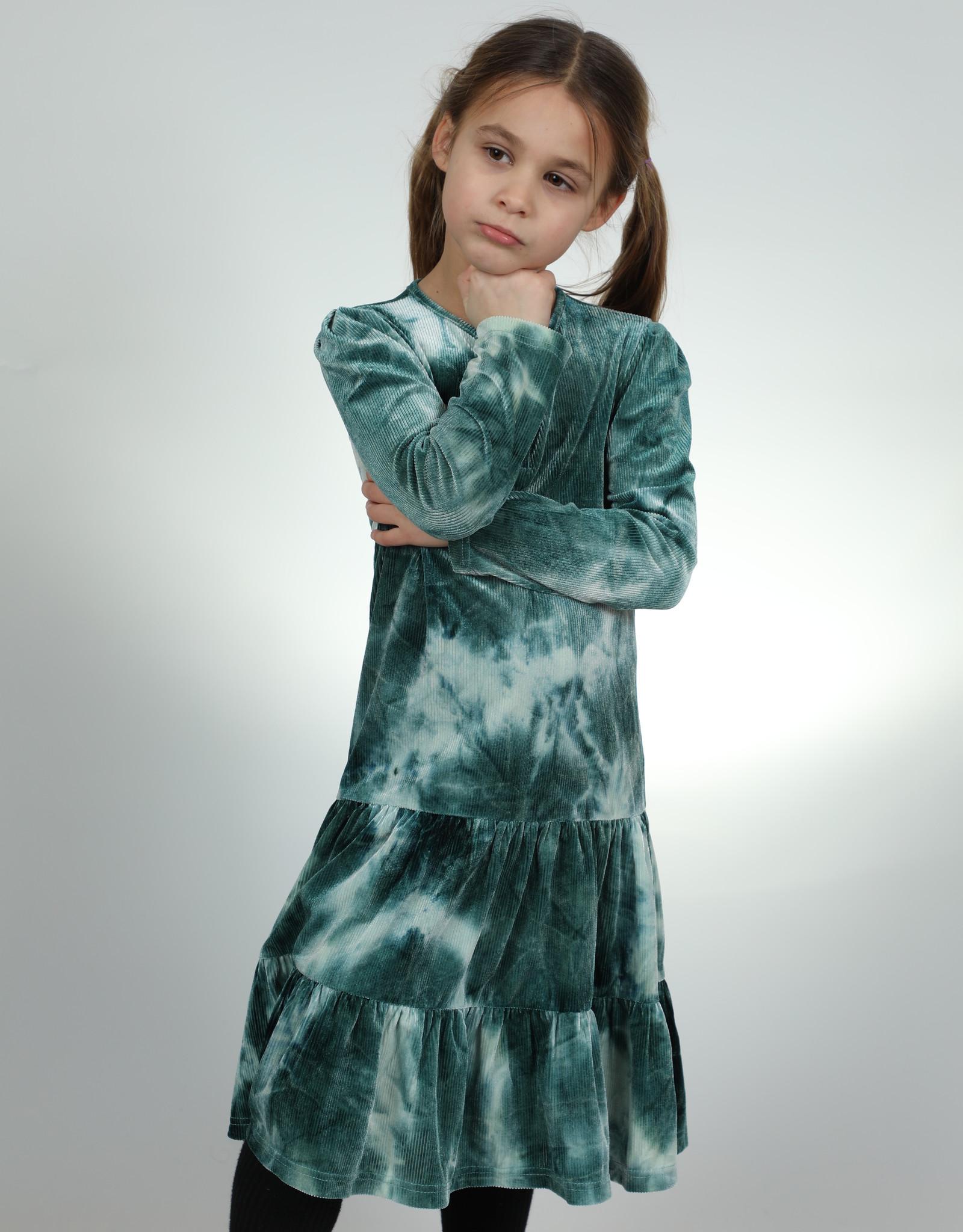ZigZag ZigZag Velour Ribbed Henley TieDye Dress