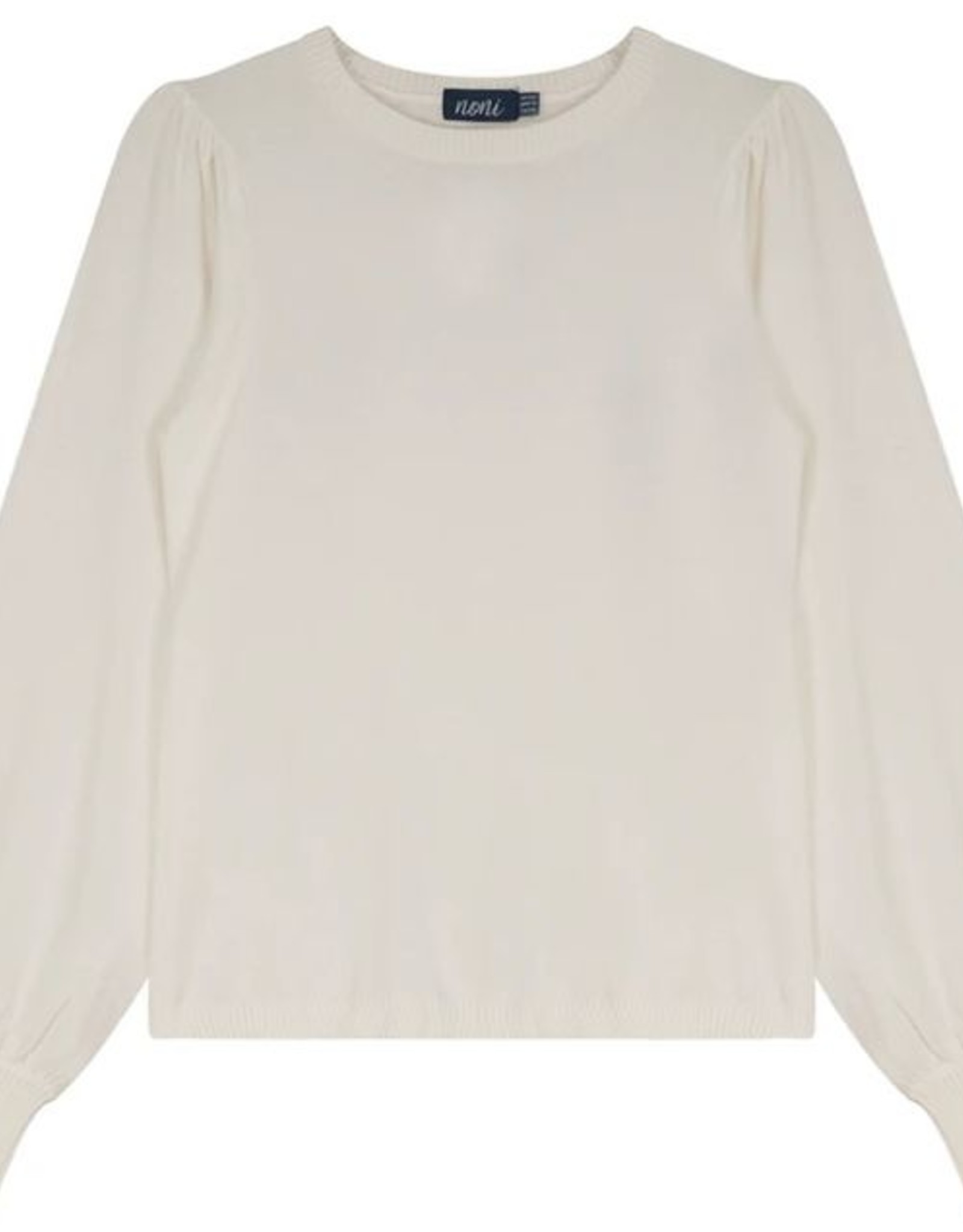 Noni Noni Knit Sweater with Puffed Sleeve