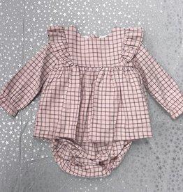 Babidu Babidu Checked Dress with Diaper Cover
