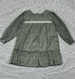 Babidu Babidu Floral Crinkle Dress with Buttons Down the Back