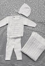 ChantDeJoie Chant De Joie Knit Set with Grey Dots (Top/Pants/Bonnet/Blanket)