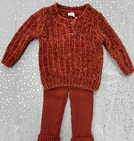 Clo Clo Baby Set with Knit Pants and Chenille Top