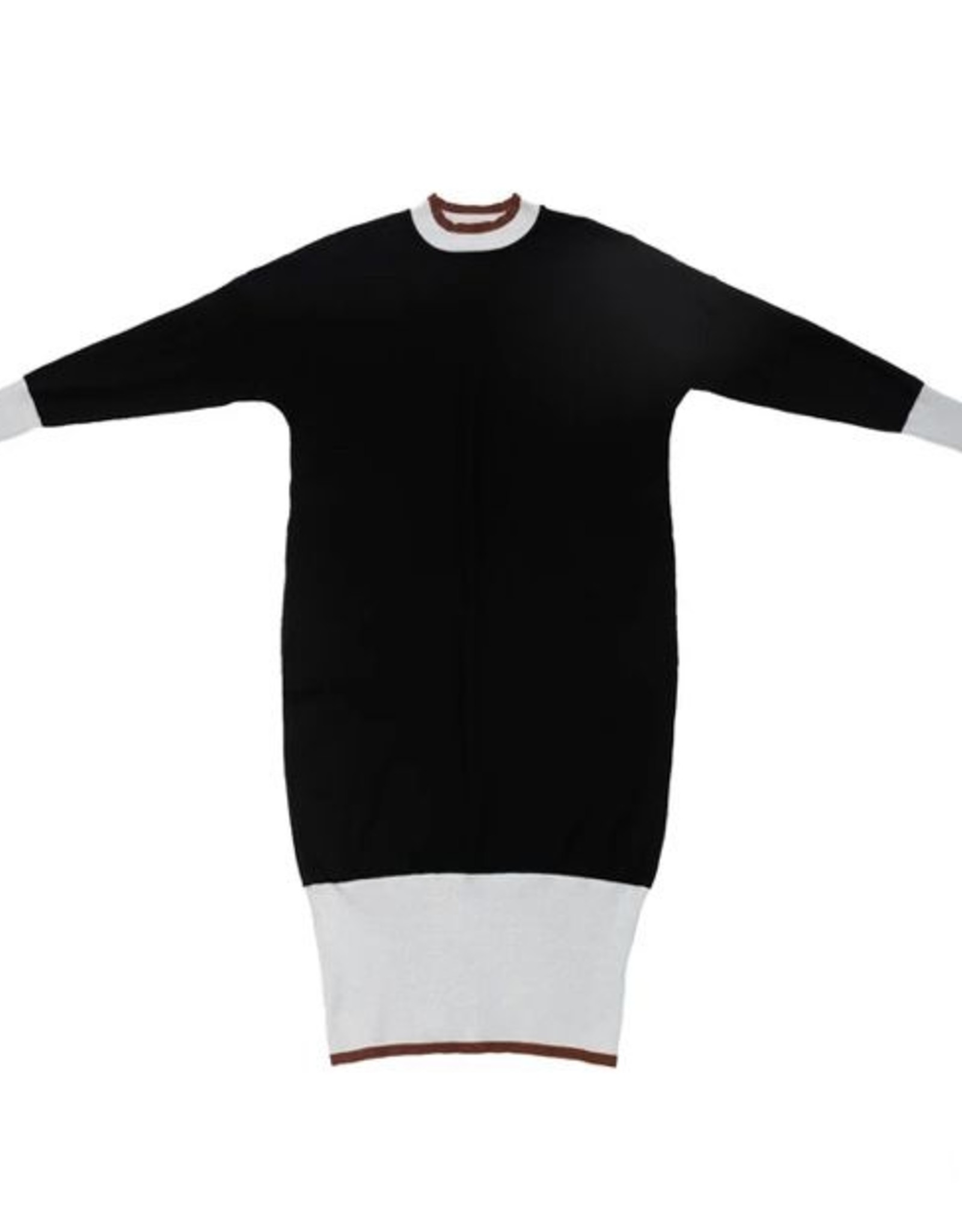 UNCLEAR Unclear Colorblock Knit Dress