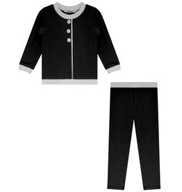 FRAGILE Fragile Faux Button Pajama with Trim
