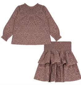 FRAGILE Fragile Floral Set (Top/Skirt) with Smock Detail