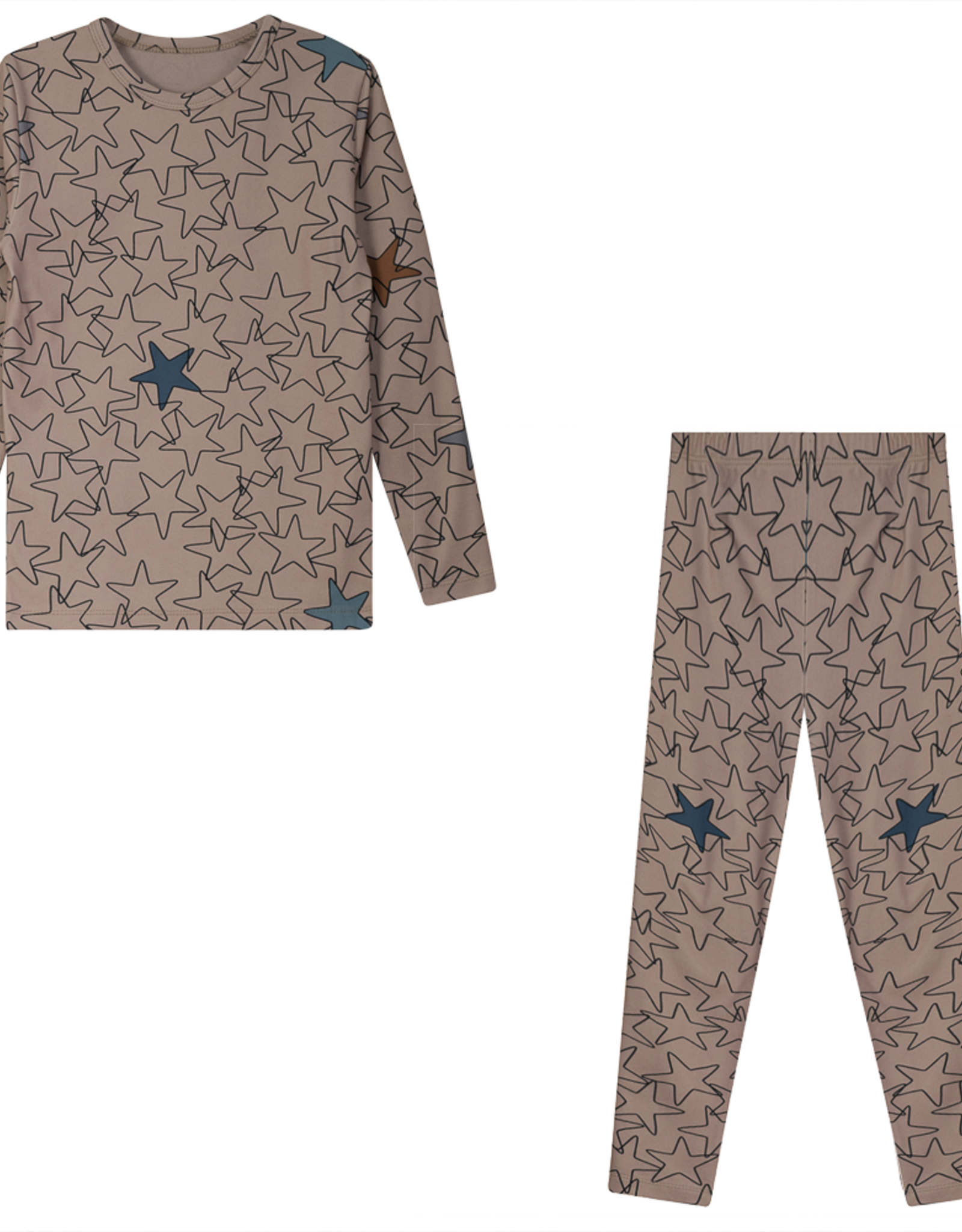 Whipped Cocoa Whipped Cocoa Fleece Pajamas with Star/Heart Print