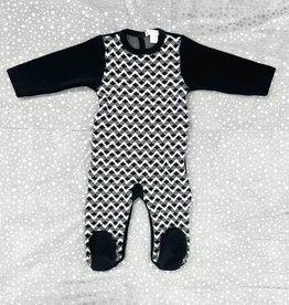 ChantDeJoie Chant De Joie Velour Footie with Knit Design