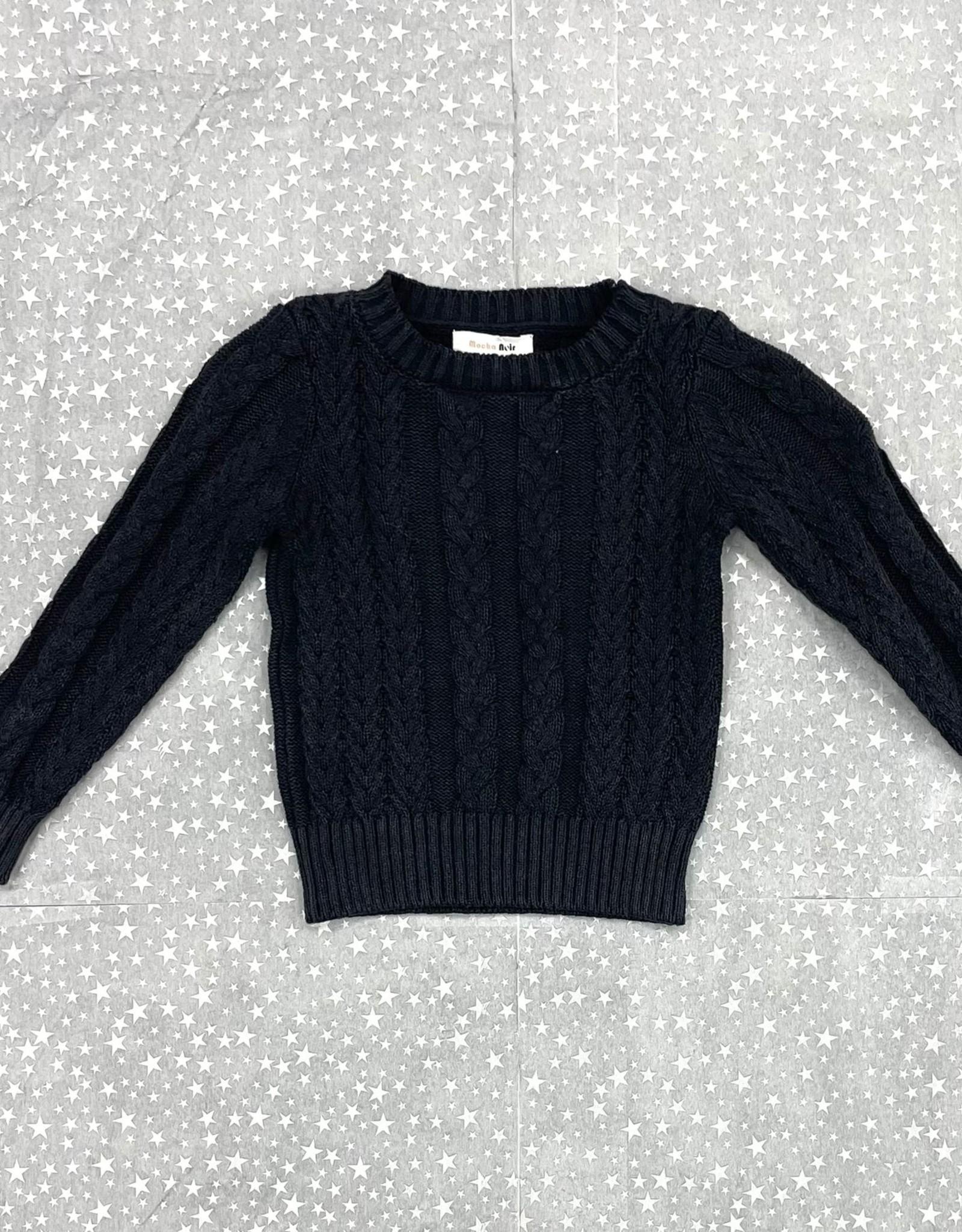 Mocha Noir Mocha Noir Cable Knit and Rib Sweater