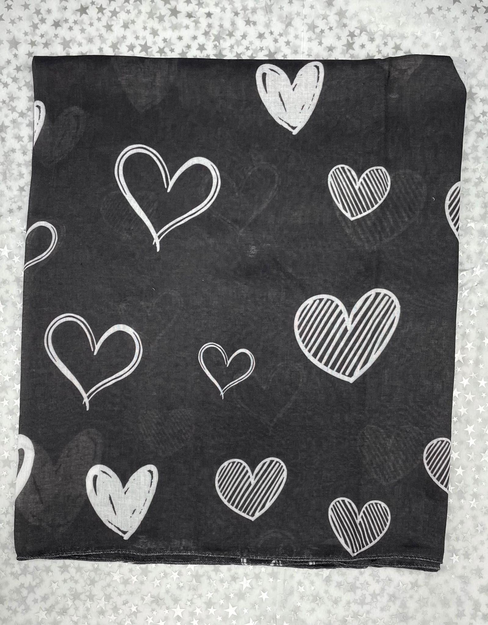 PinkDot PinkDot Assorted Hearts Flat Mitpachat