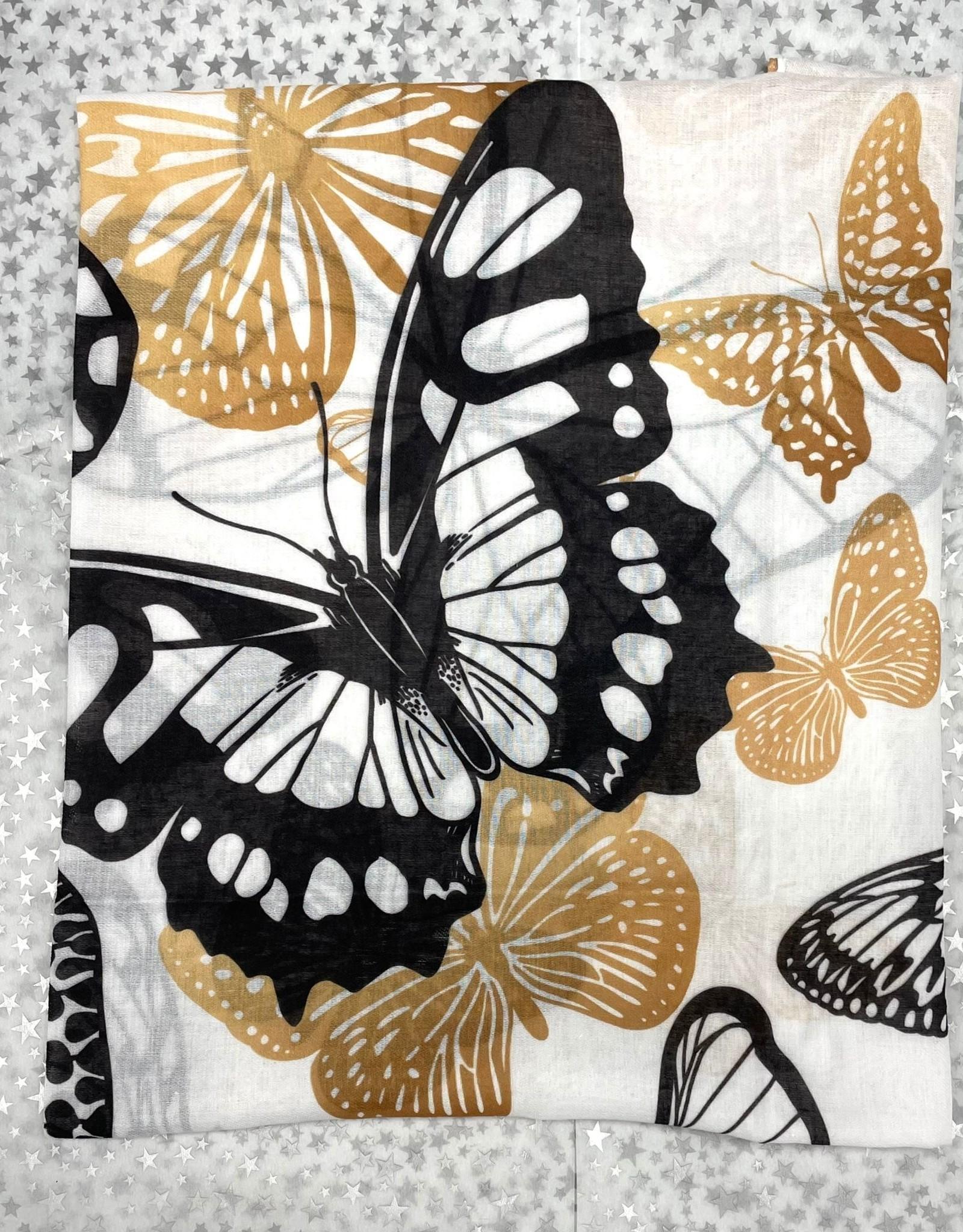 PinkDot PinkDot Big Butterfly Print Flat Mitpachat