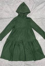 Siccinino Siccinino Cordoruy Tiered Dress with Hood