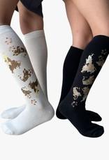 Blinq Blinq Metallic Splotch Knee Sock