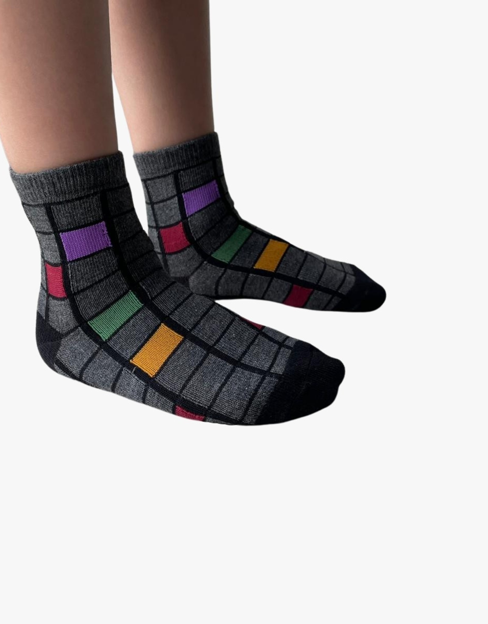 Blinq Blinq Colored Cube Socks