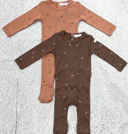 Elle & Boo Elle & Boo Scattered Stars Footie Pajamas