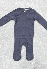 Elle & Boo Elle & Boo Leaf Print Footie Pajamas