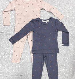 Elle & Boo Elle & Boo Leaf Print Pajamas