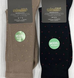 Condor Condor Polka Dot Print Mens Modal Sock