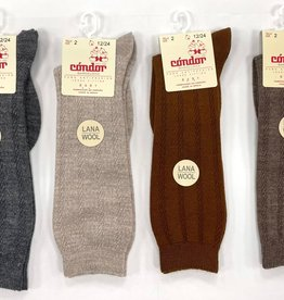 Condor Condor Wool Patterned Knee Sock