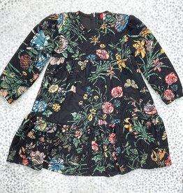 Big A Little a Big A Little a Textured Floral Tiered Dress