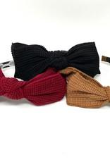 Cherie Cherie Waffle Double Layer Bow Headband