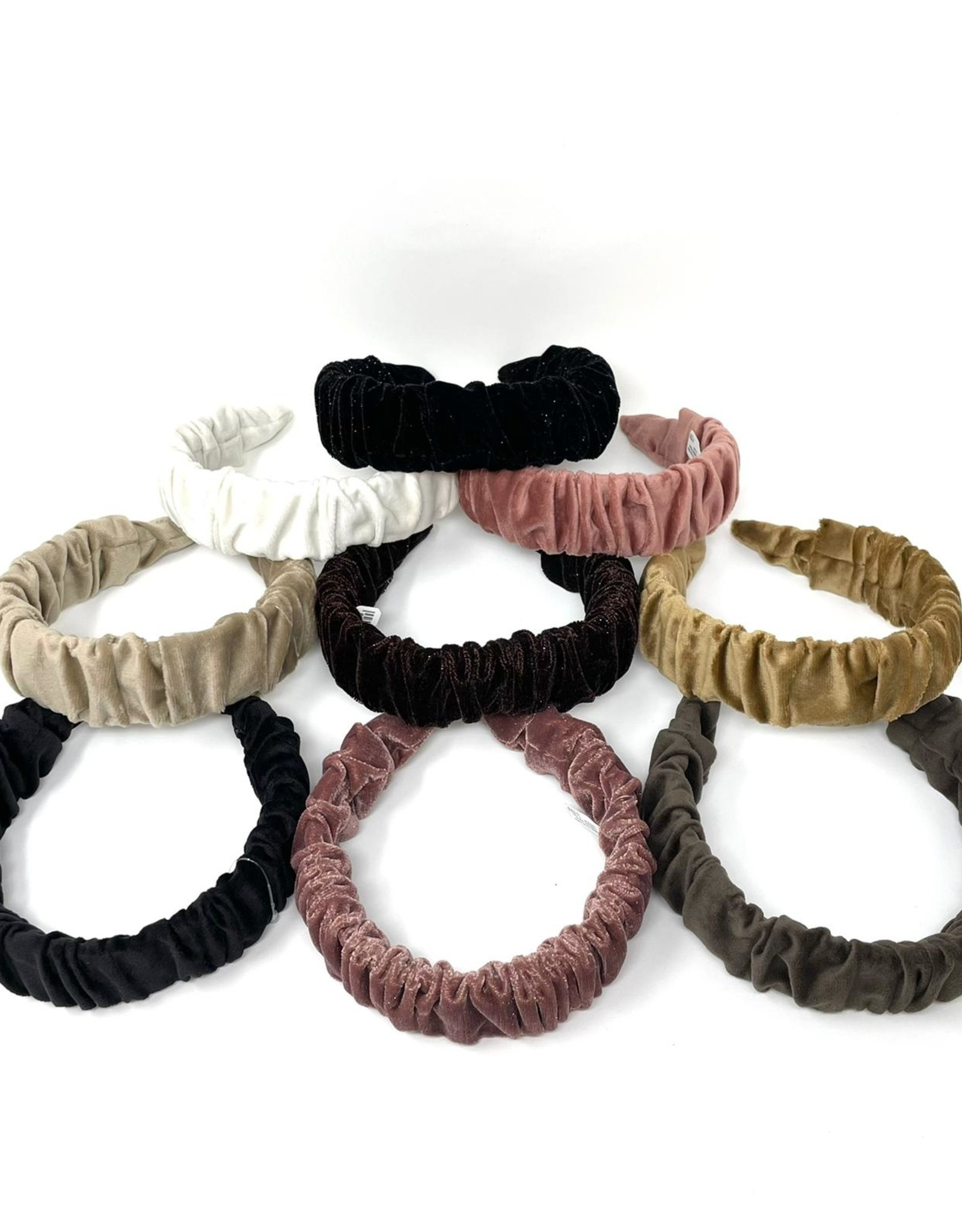 Dacee Dacee Velvet Ruffle Headband