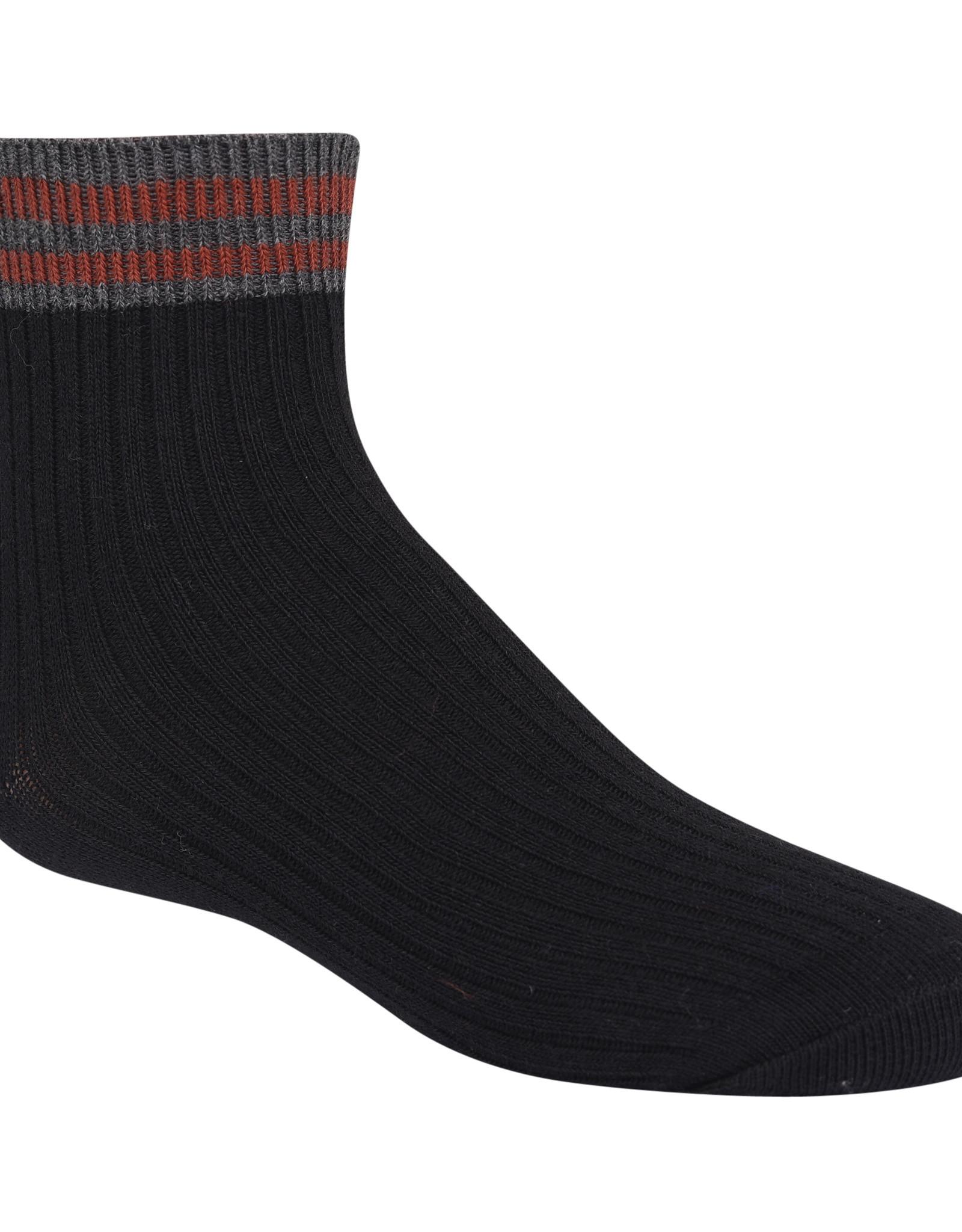 Zubii Zubii Varsity Striped Ankle Sock