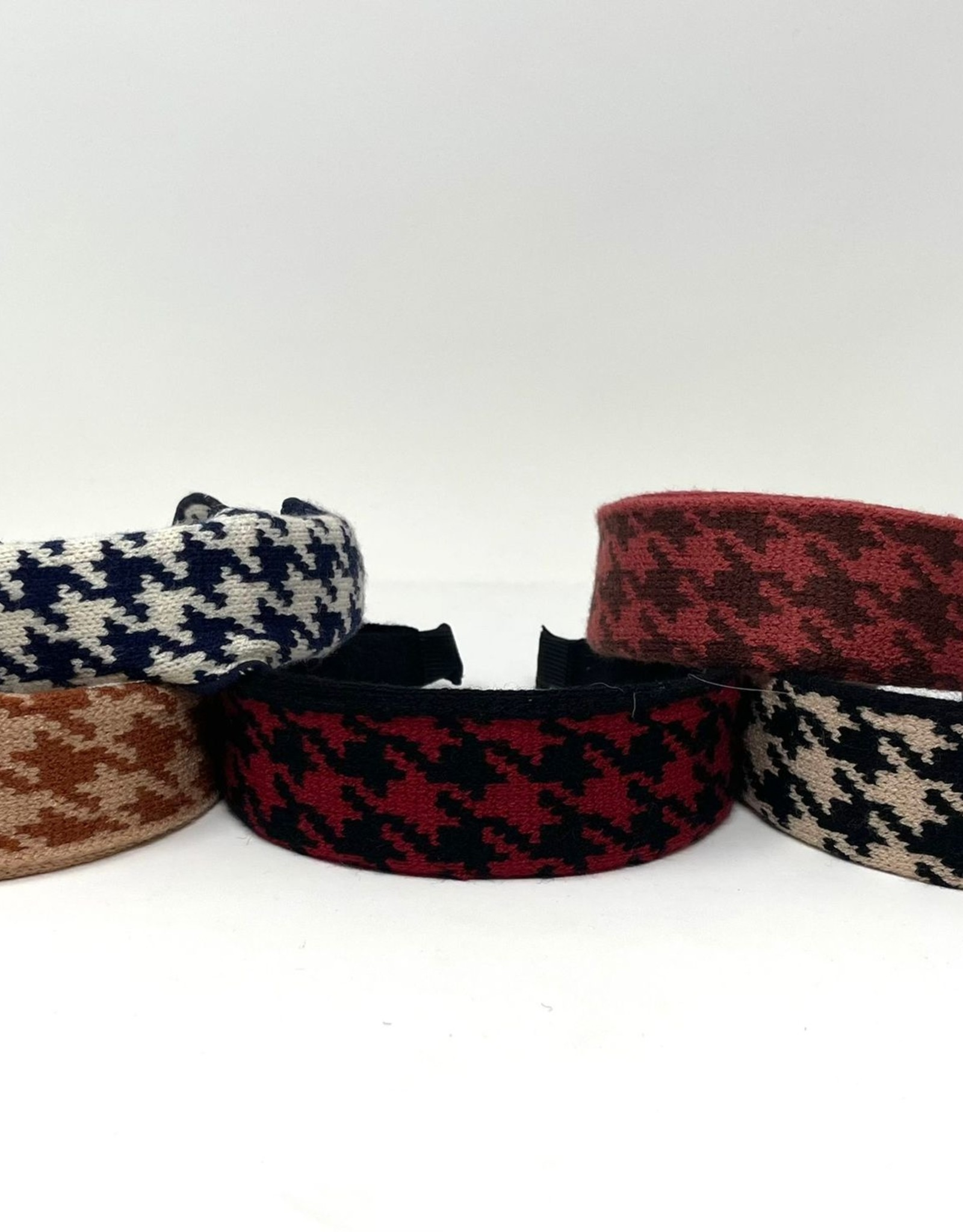 Dacee Dacee Knit Houndstooth Covered Headband