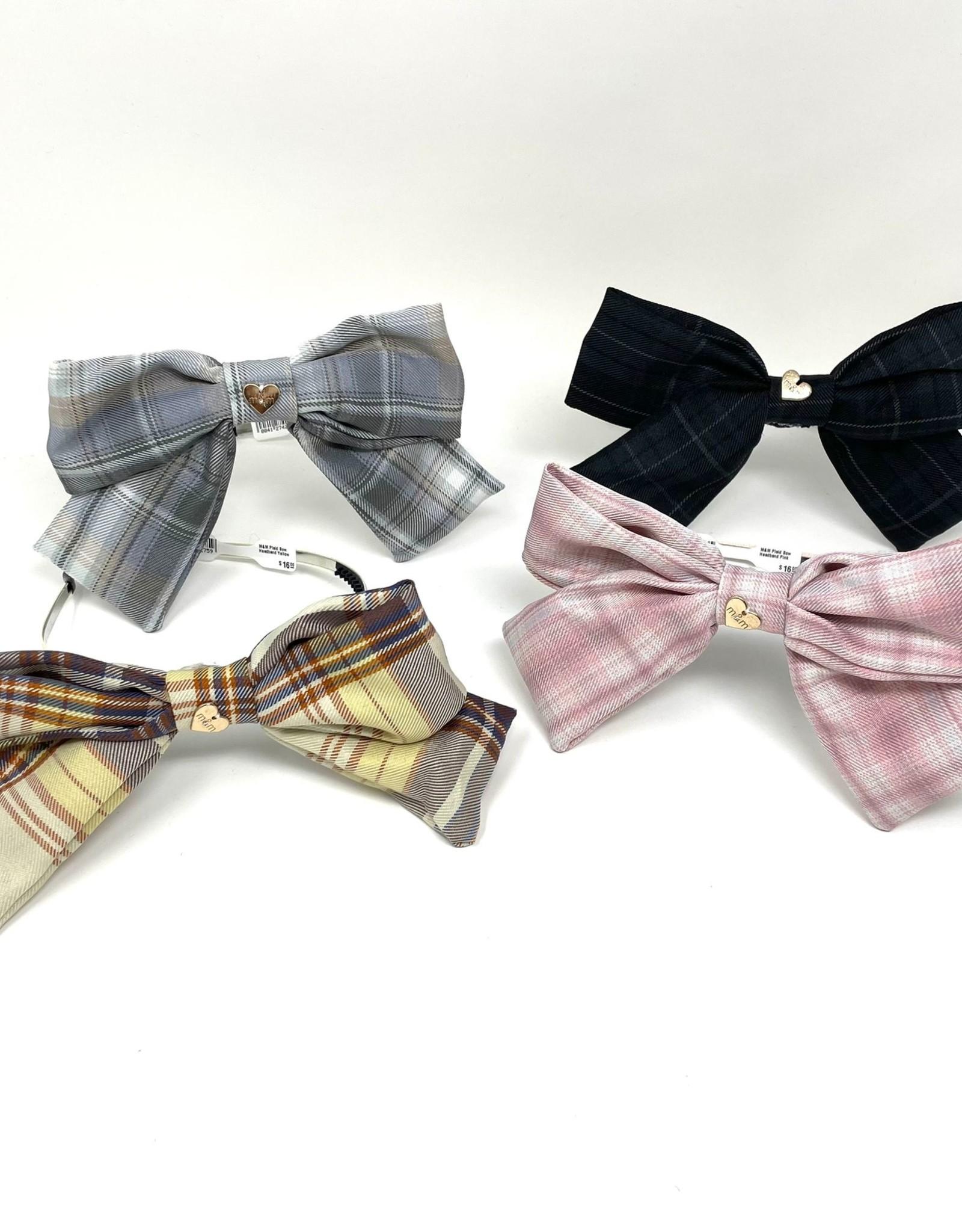 M&M M&M Plaid Bow Headband