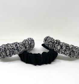 Dacee Dacee Tweed Ruffle Headband