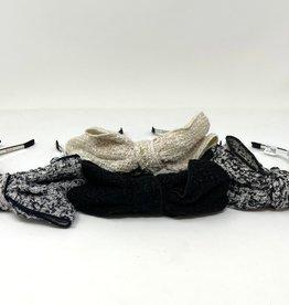 Dacee Dacee Tweed Bow Headband