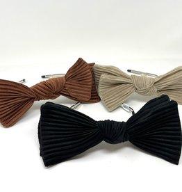 Cherie Cherie Pleated Velvet Double Layer Bow Headband