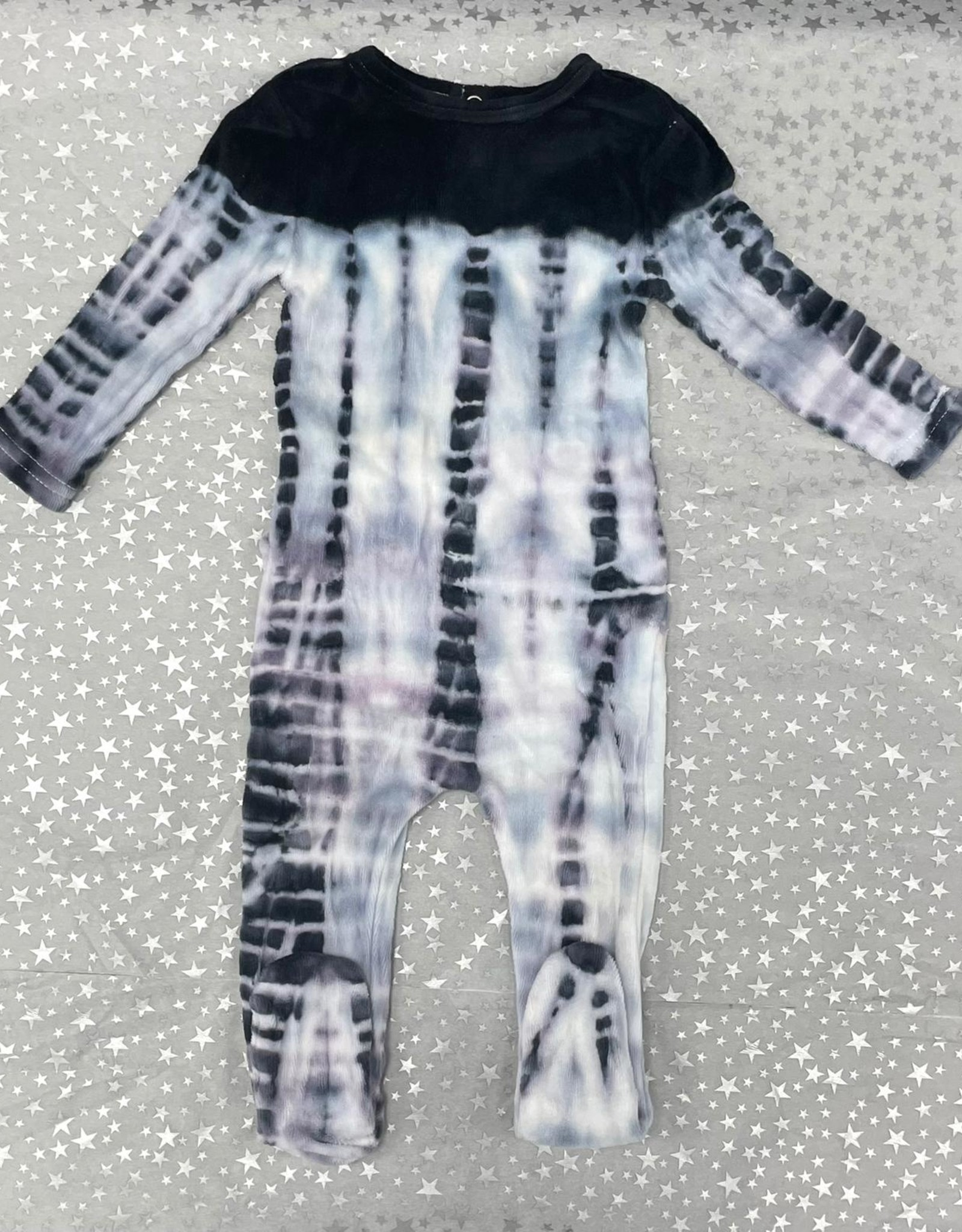 Noggi Noggi Velour Tie Dye Footie Pajama