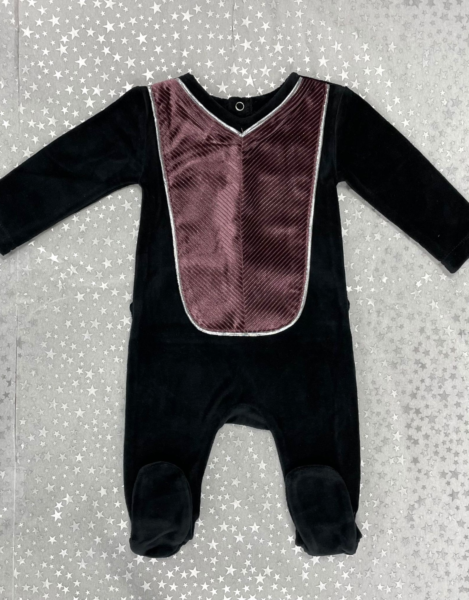 Blinqi Blinqi Ribbed Panel Footie