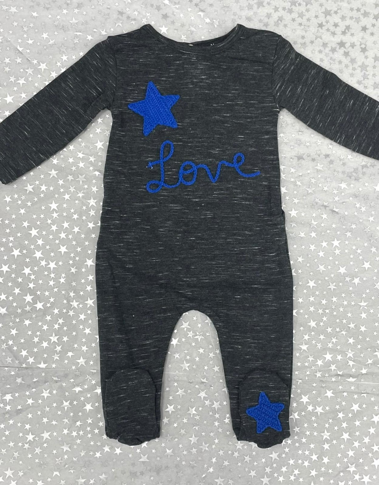 Noggi Noggi Crochet Heart/Star Footie Pajama