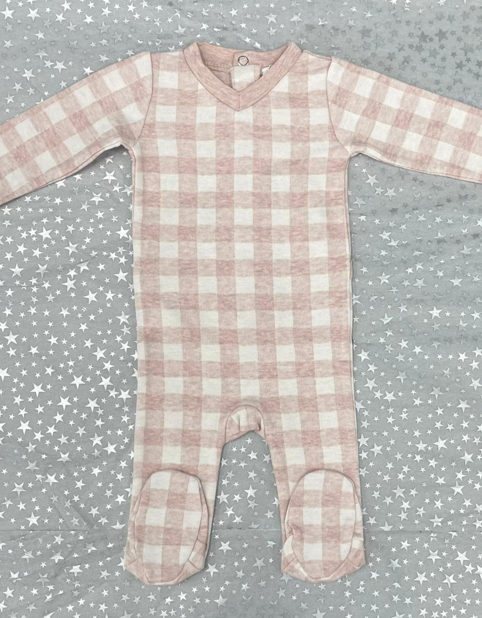 Milk Milk Checkered Footie Pajamas