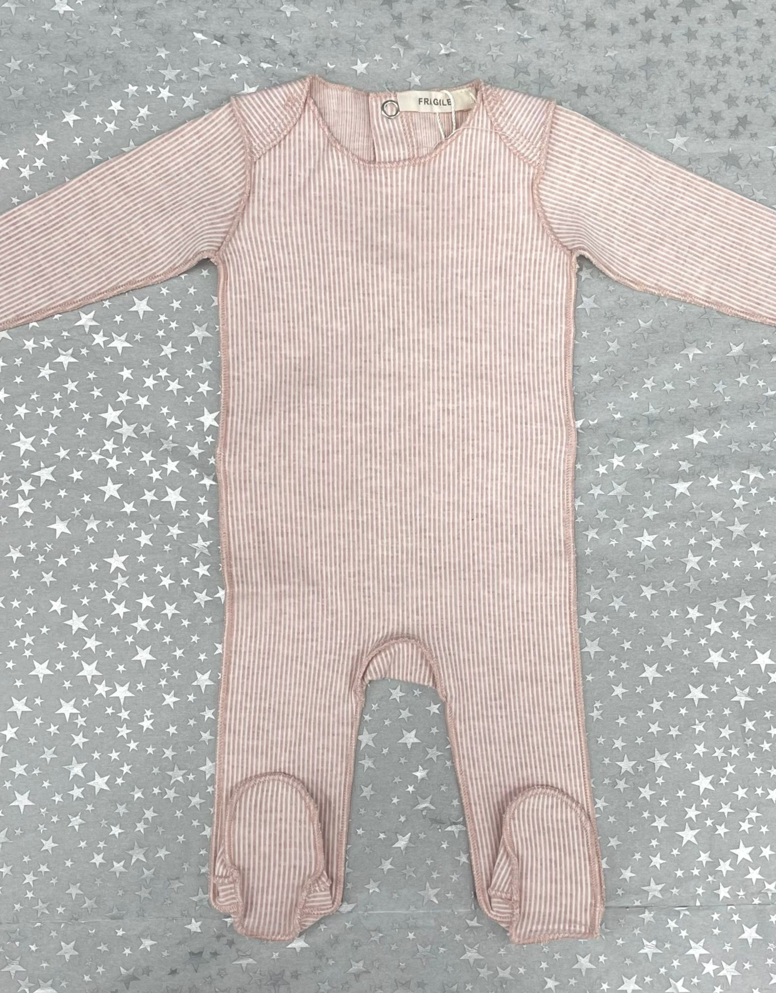 FRAGILE Fragile Thin Ribbed Cotton Footie