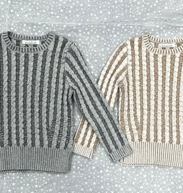 SLICE Slice Wide Chunky Cable Knit Sweater