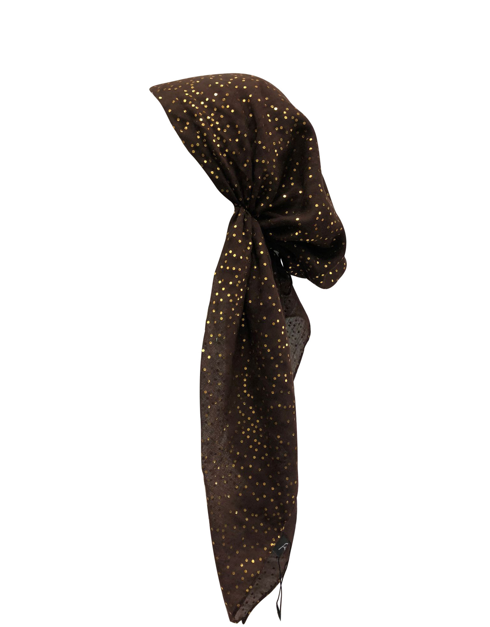 Dacee Dacee Foil Dots Pre-Tied Headscarf with Velvet