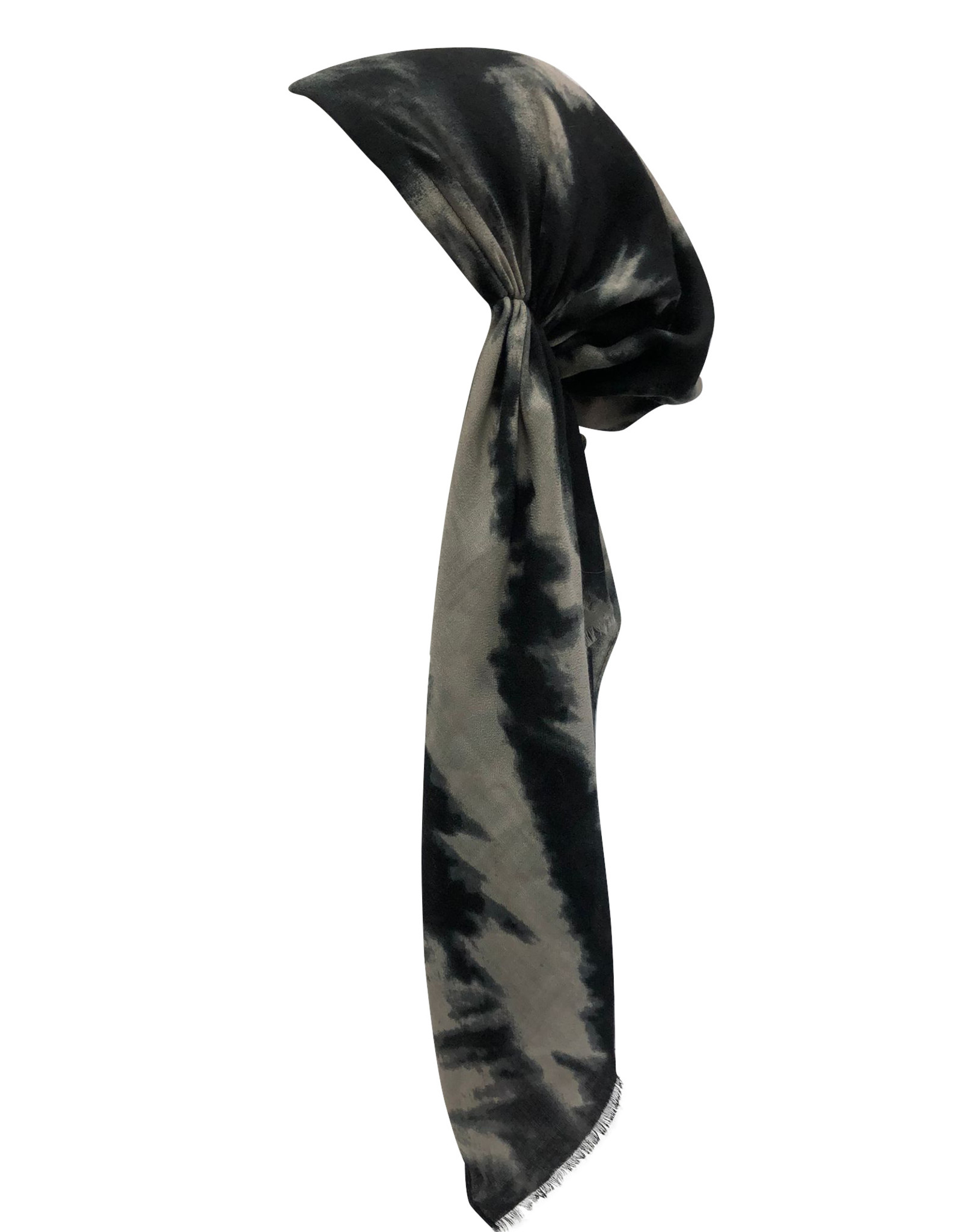 Dacee Dacee Winter TieDye Pre-Tied Headscarf with Velvet