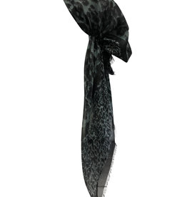 Dacee Dacee Lurex Leopard Pre-Tied Headscarf with Velvet