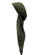 Dacee Dacee Lurex Striped Pre-Tied Headscarf with Velvet