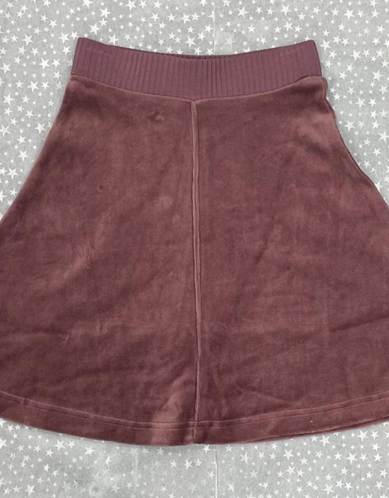 2 Squares 2 Squares Velour Aline Skirt