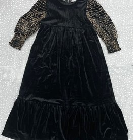 Silver C Silver C Velour Tiered Robe with Animal Print Sleeves