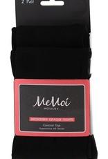 Memoi Memoi Microfiber Opaque Control Top Tights 2-Pack