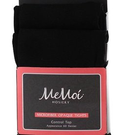 Memoi Memoi Microfiber Opaque Control Top Tights 2-Pack